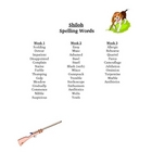 Shiloh Spelling Words Their Way List Vocabulary Words