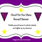 Shoot For the Stars Pennant Banner