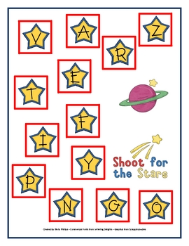 Shoot for the Stars Alphabet Game