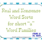 Short A Real and Nonsense Words