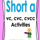 Short A Vowel Activities