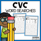 Short AEIOU CVC Word Searches - Bundled Set