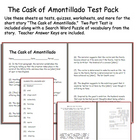 Short Story Test: The Cask of Amontillado by Edgar Allan Poe