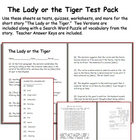 Short Story Test: The Lady or the Tiger by Frank Stockton
