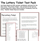 Short Story Test: The Lottery Ticket by Anton Checkov