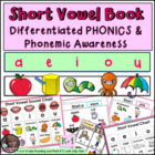 Short Vowel Book Lesson and Printables