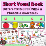 Short Vowel Book DIFFERENTIATED Lesson and Printables