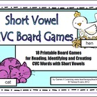 Short Vowel CVC Board Games