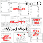 Short Vowel Ee Work Packet for K - 1