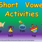 Short Vowel Practice- a e i o u- Kindergarten 1st Grade