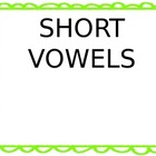 Short Vowel Tracking Sheet