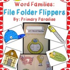 Short Vowel Word Families: File Folder Flippers