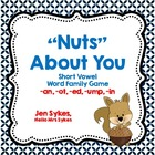 Short Vowel Word Family Game - Nuts About You