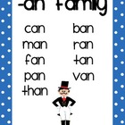 Short Vowel Word Family Posters for Kindergarten-Grade 1