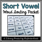 Short Vowel Word Sorting Packet