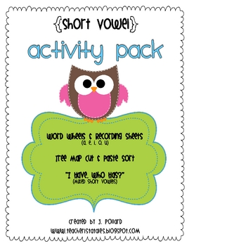 "Short Vowel Word Wheels & ""I Have. Who Has?"" Activity"