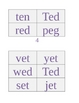 Short Vowel Words Packet: Short e, Phonics/CVC Words, shor