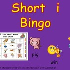 Short Vowel i Bingo Game- Kindergarten Word Work