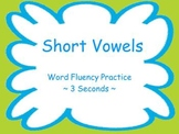 Short Vowels Fluency Powerpoint Flash Cards ~ Real and Non