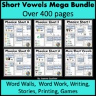 Short Vowels Word Families Mega Bundle: Phonics and Writin