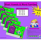 Short Vowels and Word Families Smartboard Lesson Grades K-2