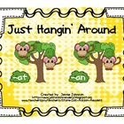 Short a Just Hangin' Around Word Sort for Centers/Small Group