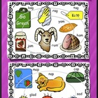 Short a Vowel Clip art Set - Ag, Am, Ap, and Ad Word Famil