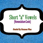 "Short ""a"" Vowel Words Nomenclature Cards ( 3-part cards )"
