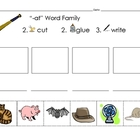 Short a Word Families - Cut, Paste and Write