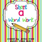 Short /a/ Word Work Freebie!