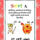 Short a activity unit. Spelling, sentence building &amp; reading