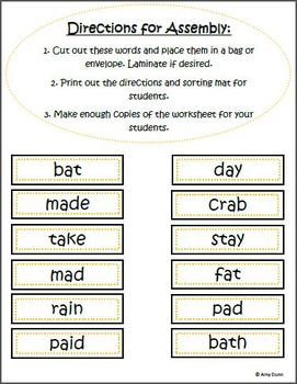 Short and Long Vowel Sorts