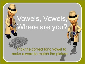 Short and Long Vowel interactive activity and worksheet.