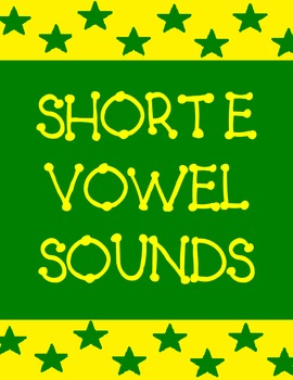 Short e sound activities