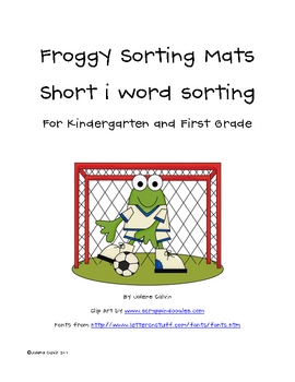 Short i Word Family Sorting Mats