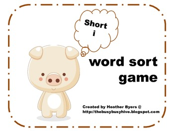 Short i word sort game