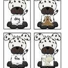 Short o Matching Game- Dog Theme