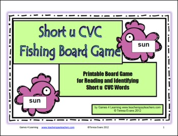 Short u CVC Fishing Board Game
