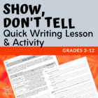 Show Don&#039;t Tell Activity
