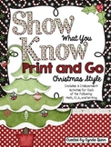 Show What You Know Print & Go {Christmas Style}