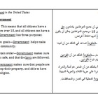 Side-by-side English &amp; Arabic Government notes