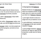 Side-by-side English &amp; Spanish Government notes