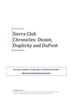Sierra Club: Dioxin, Duplicity and DuPont video discussion