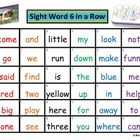 Sight Word 6 in a Row Game (Custom Listing Dolch Pre-Prime