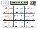 Sight Word 6 in a Row Game (Dolch Sight Words List -Primer