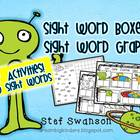 Sight Word Activities {Sight Word Boxes and Sight Word Graph}