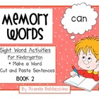 Sight Word Activities for Kindergarten Book 2