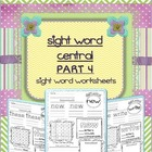 Sight Word Activity PART 4