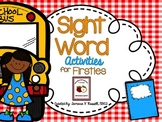 Sight Word Activity Pack: SEPTEMBER {Marvelous Morning Wor