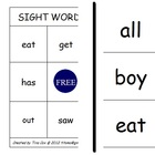 Sight Word Bingo - 25 Common Kindergarten Words